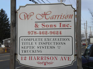 W Harrison and Sons Sign